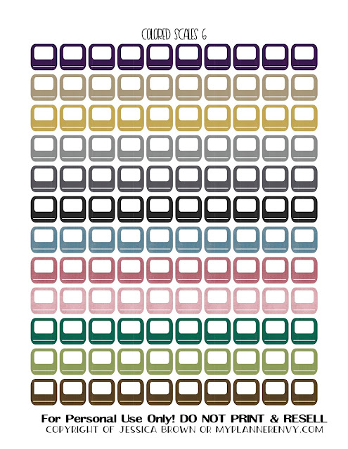 Free Printable Colored Bathroom Scales 6 from myplannerenvy.com