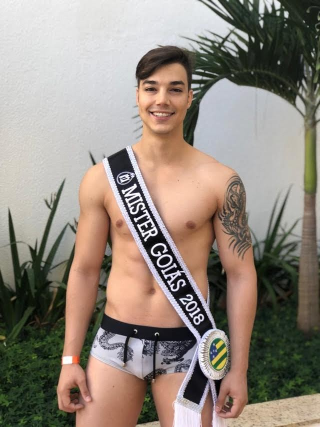 Marcos Borges, Mister Goiás 2018, em traje de banho. Foto: Divulgação
