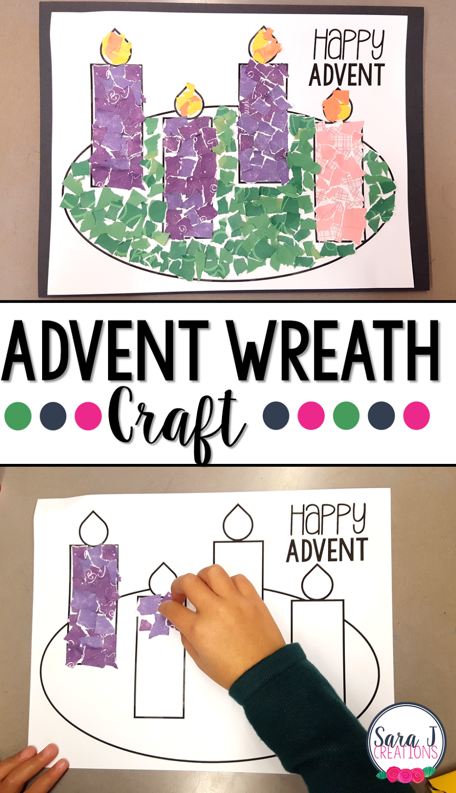 advent wreath rip art project classroom freebies. Black Bedroom Furniture Sets. Home Design Ideas