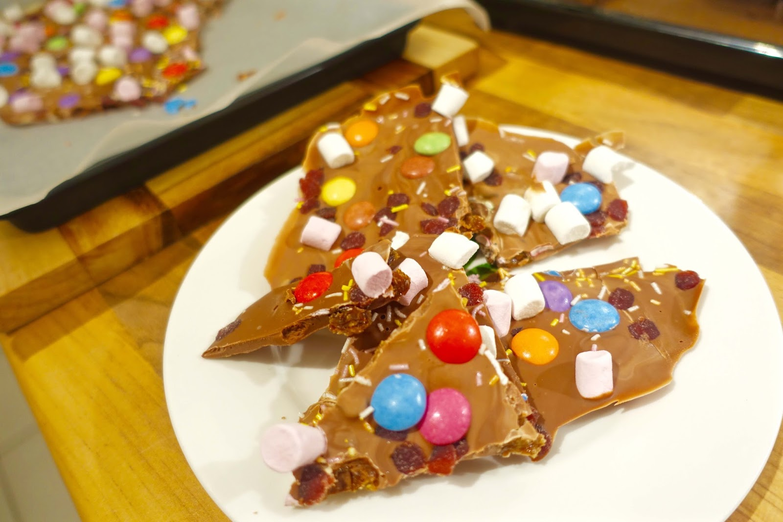 chocolate slab recipe with smarties