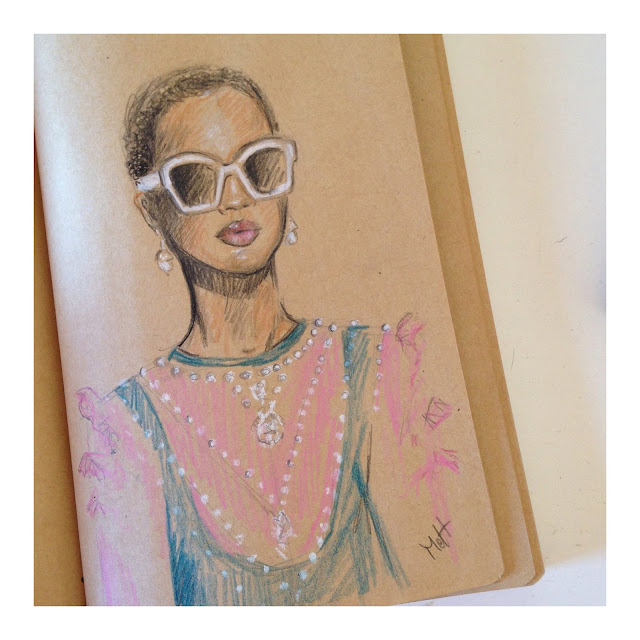 gucci look sketch