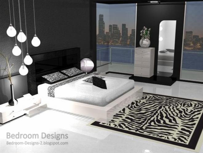 black and white interior design bedroom 2. Modern Bedroom Design Idea  With Fall Ceiling Chandeliers 5 Black And White Designs Ideas