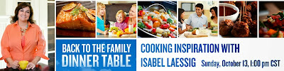 Back to the Family Dinner Table: Cooking Inspiration w/ Isabel Laessig on G+