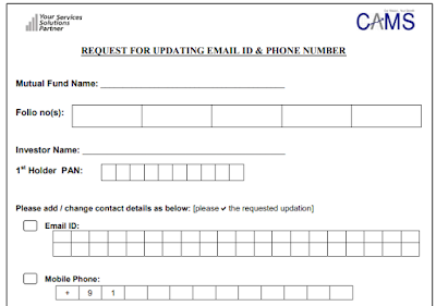CAMS - Email and Mobile Updation Form