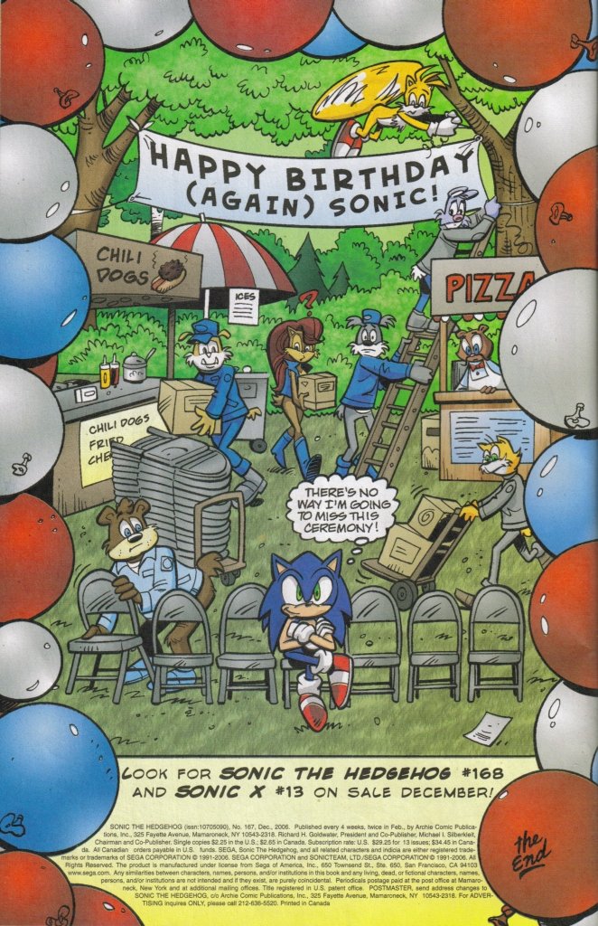 Read online Sonic The Hedgehog comic -  Issue #167 - 33