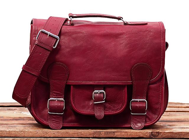 sac cartable pas cher pour femme, élégant en cuir