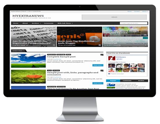 MyExtraNews Premium Responsive Blogger Template
