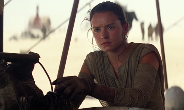 Daisy Ridley as Rey in Star Wars: The Force Awakens, Directed by J.J. Abrams
