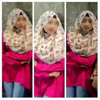 Cara memakai jilbab segi empat sederhana dan modis