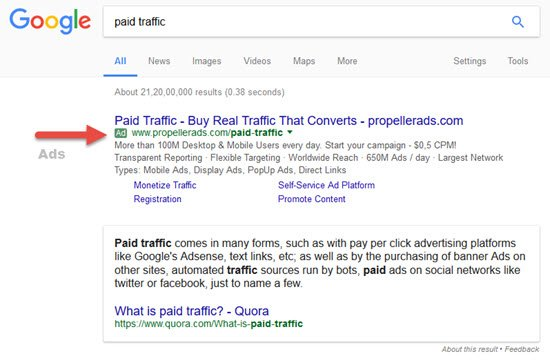 Search Engine Traffic for CPA Marketing