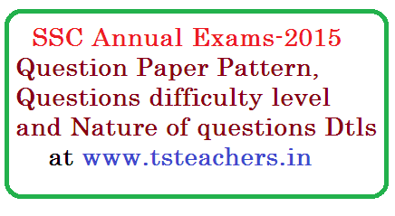 SSC Annual  Examinations Pattern | Telangana SSC Annual Examination Question Papers Pattern | Changes In SSC-2016 Annual Examinations Paper Pattern tstelangana-ssc-annual-examinations-question-paper-pattern