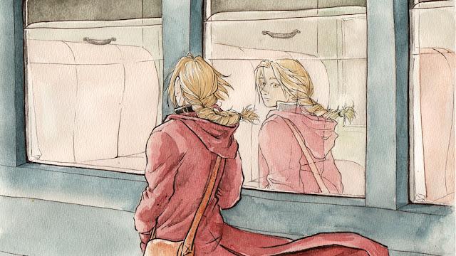 Edward au départ d'un voyage solitaire - fanart de FMA