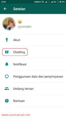 Setelan Chatting