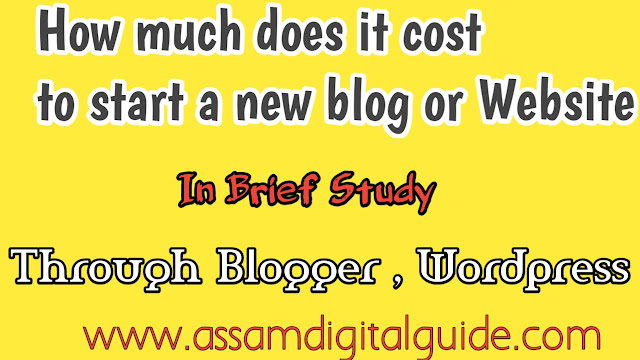 How much does it cost to start a new blog or website