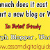 How much does it cost to start a new blog or website - Assam Digital Guide