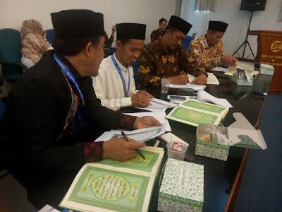 Mudir (Pimpinan) LTQ Mengikuti Diklat Teknis Subtantif Tashih Al-Qur'an di Kemenag RI