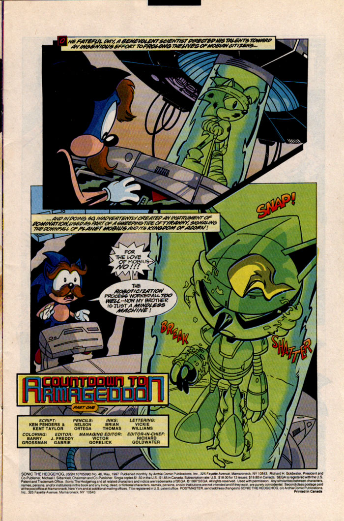 Read online Sonic The Hedgehog comic -  Issue #46 - 2