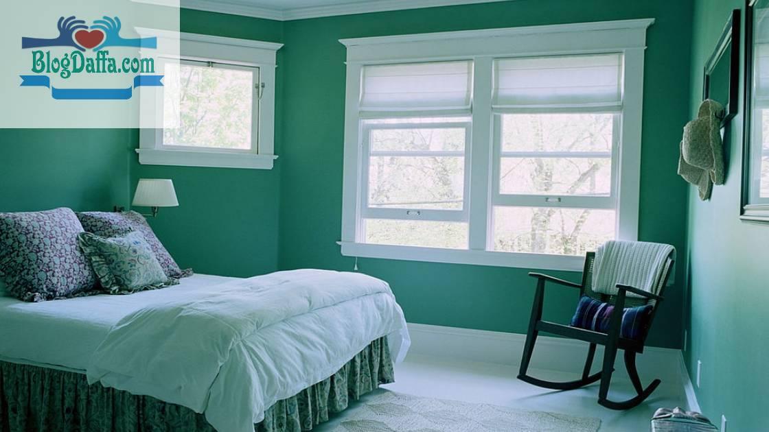 Warna kamar tidur hijau lembut
