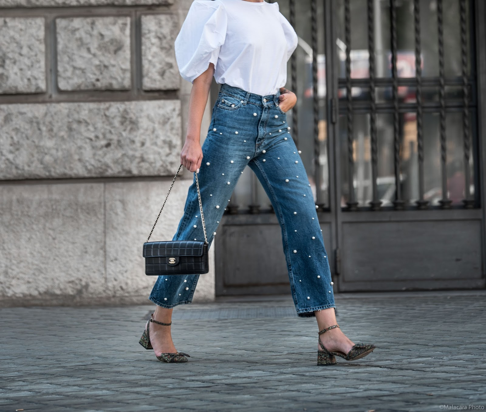 JEANS CON PERLAS Y TOP MANGA FAROL | Views by Laura | Bloglovin'