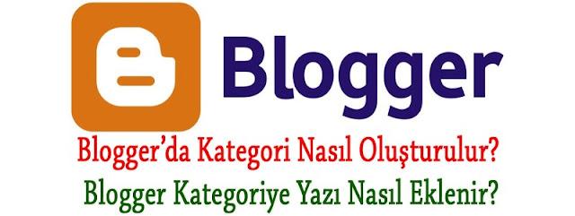 Blogger'da Kategori Nasıl Oluşturulur