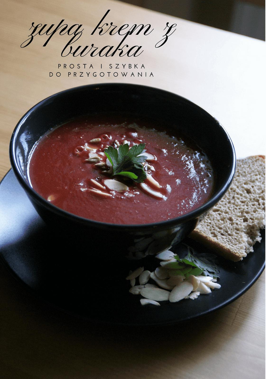 Zupa krem z buraka - super szybka!