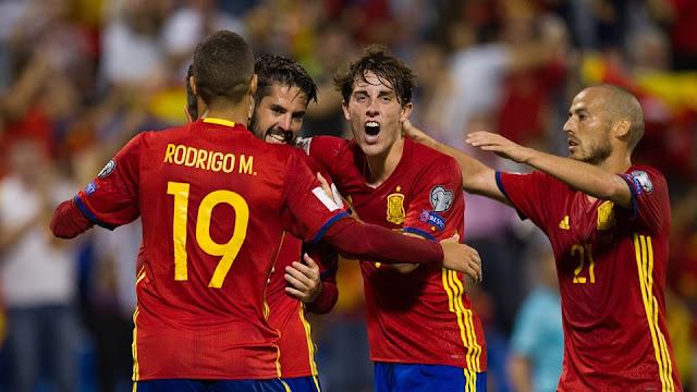 España clasifica a Rusia 2018 con victoria sobre Albania