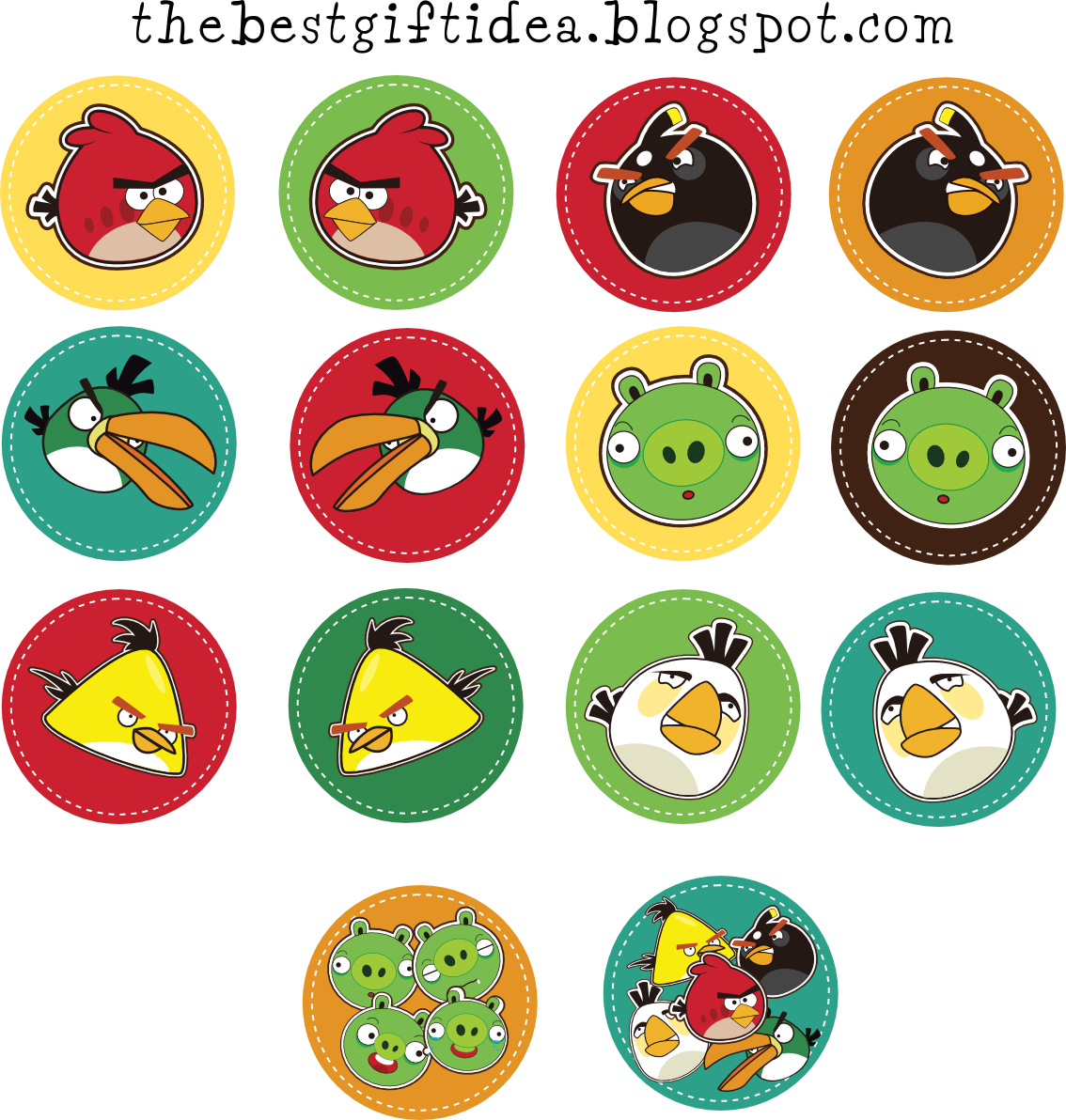 Free Printable Angry Birds Cupcake Topper