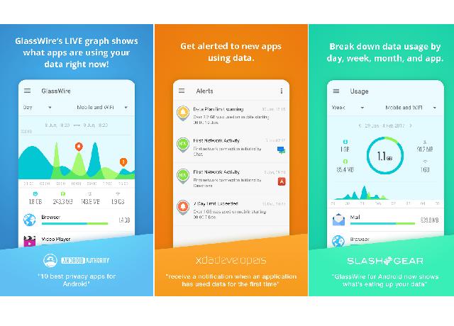 GlassWire - Εξοικονομήστε δεδομένα (MB) και αποφύγετε τις επιπλέον χρεώσεις