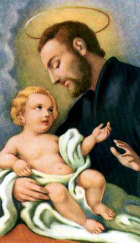 San Cayetano con el Niño Jesus en brazos