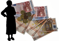Ein Mensch mit Geld
