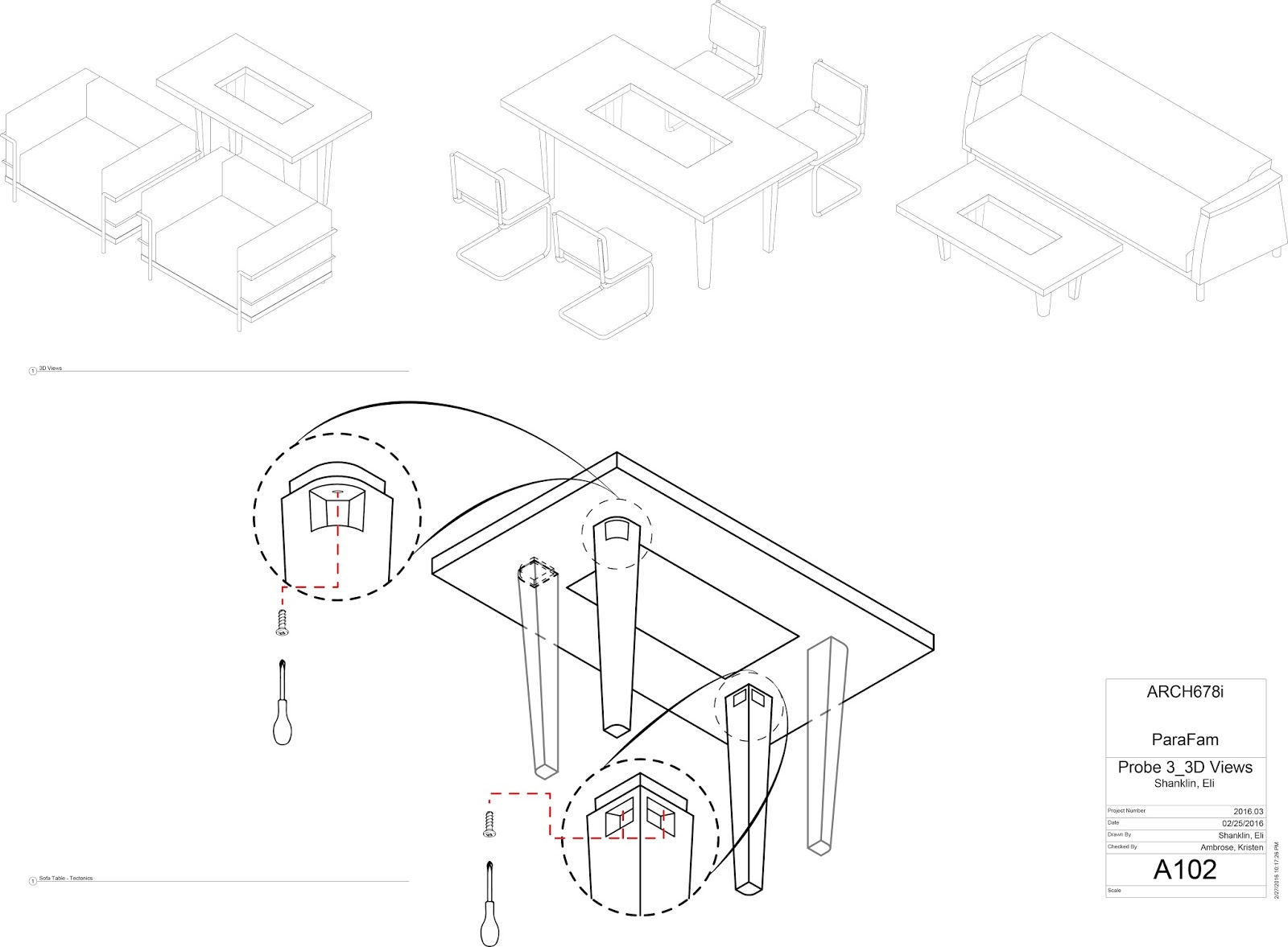 it takes a village probe 3 parafam umd 2016 bim exploration Types of Law above are axonometric views of the three table types with a more detailed drawing highlighting where screws would be used on the table legs