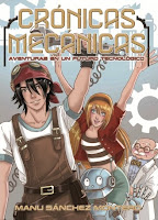 "Portada del libro ""Crónicas mecánicas"", de Manu Sánchez Montero"