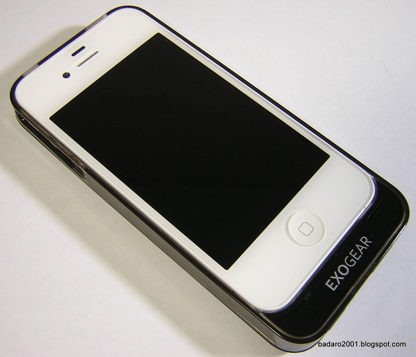 badaro...: 아이폰4 보조배터리 케이스형 1700mAh Exolife4, 묵직한 ...