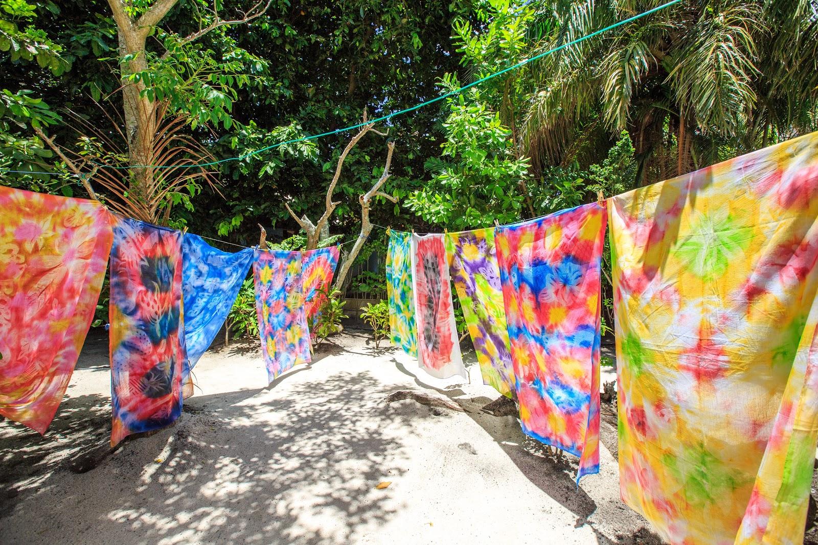 Bora Bora|手染後的大溪地Pareu布