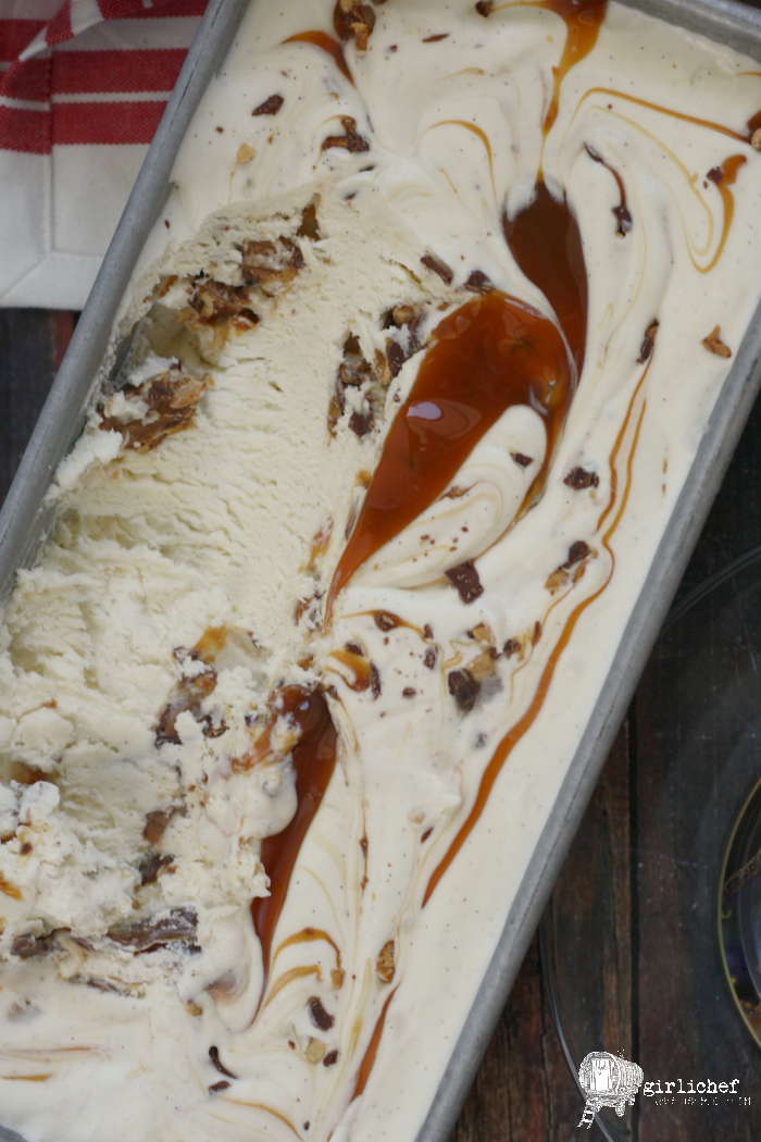 No-Churn Baby Ruth Chunk Ice Cream