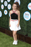 Brec Bassinger in Black, Red, White Dress at Safe Kids Day in Los Angeles