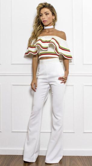 Skazi coleção verão 2017 blusa e calça