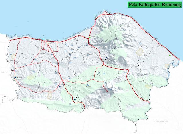 Peta Kabupaten Rembang HD