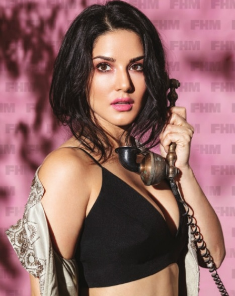 Sunny Leone's de-glam look on the FHM magazine's October 2017
