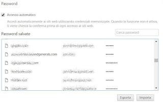 backup password chrome