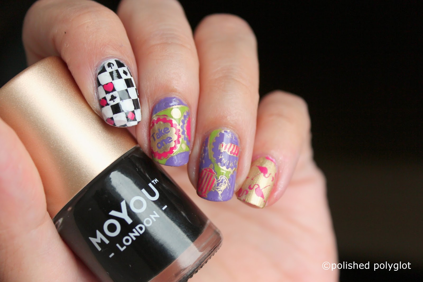 Nail art │Nails inspired by a book: Alice in Wonderland / Polished ...