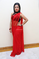 Aasma Syed in Red Saree Sleeveless Black Choli Spicy Pics ~  Exclusive Celebrities Galleries 049.jpg
