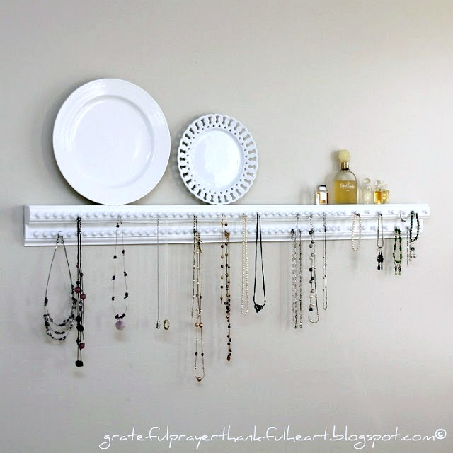 Necklace and Jewelry Organizer Grateful Prayer Thankful Heart