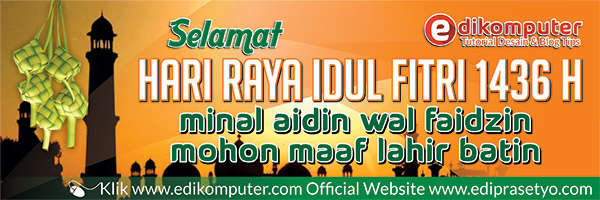 Download Banner Lebaran Format Coreldraw