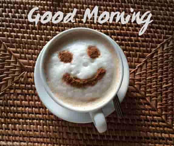 good morning with coffee morning smile cup