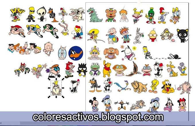 PACK 1 DE 5... VECTORES DE CARICATURAS