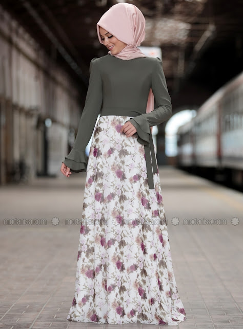 floral-skirt-hijab-woman-2018-2019