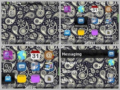 Batik dark theme for C3-00 X2-01 Asha 302 Asha 200 Asha 201