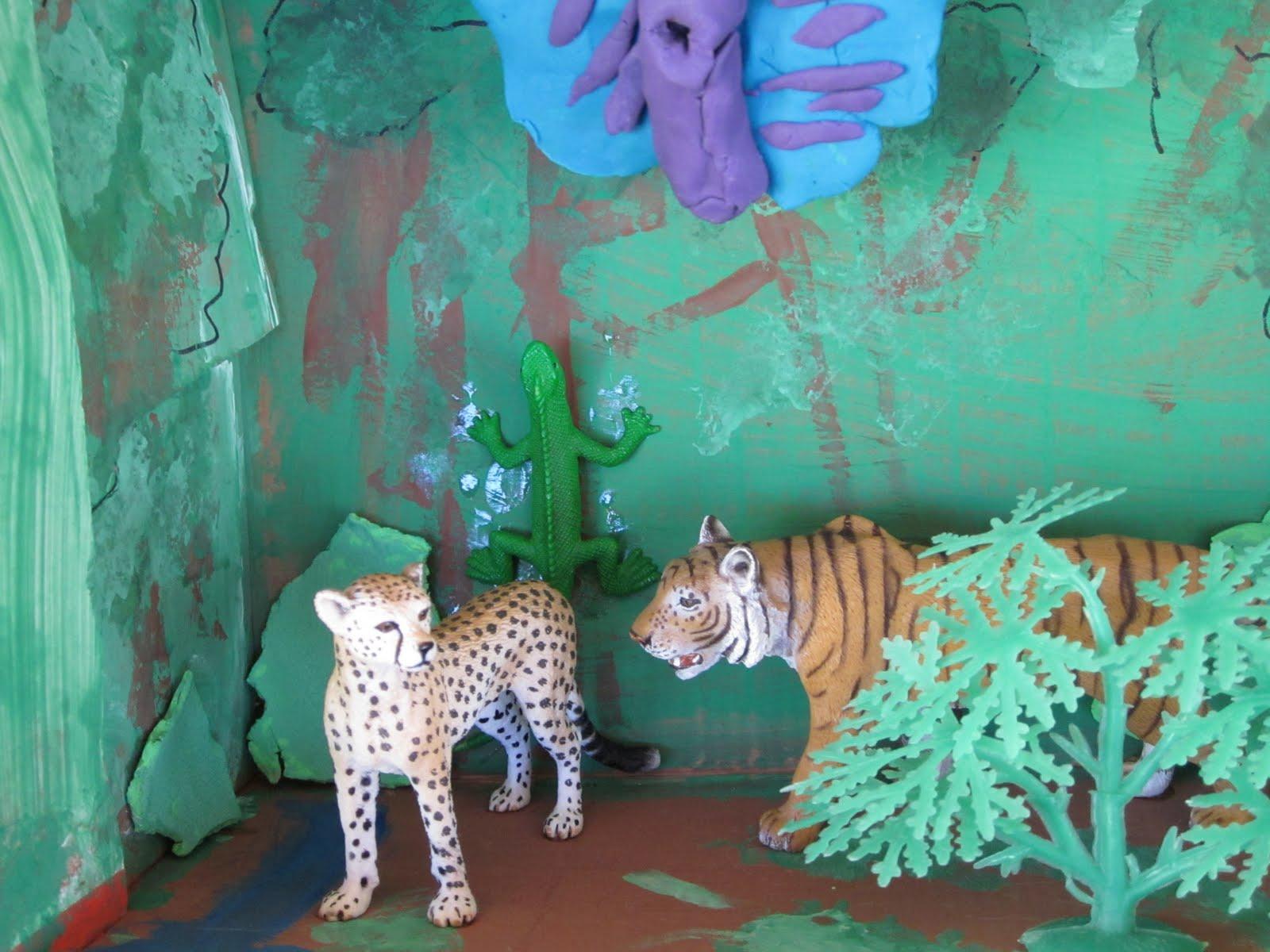 Kids Diorama With Details: Grayson Family: Habitat Diorama