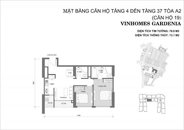 19 - Tòa A2 Vinhomes Gardenia